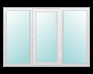 Dreiflügelige Fenster